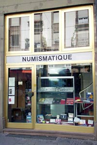 poinsignon numismatique magasin extérieur