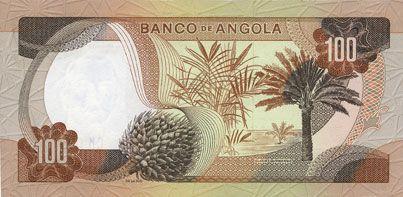 Banknoten Angola. Banque d'Angola (Banco de Angola). Billet. 100 escudos 24.11.1972