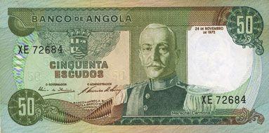 Banknoten Angola. Banque d'Angola (Banco de Angola). Billet. 50 escudos 24.11.1972
