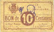 Banknoten Toulouse (31). Ville. Billet. 10 centimes