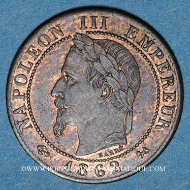 Gestohlene objekte 2e empire (1852-70), 1 cme tête laurée 1862K Bordeaux