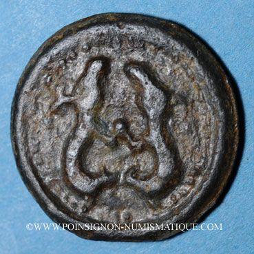 Gestohlene objekte Suessiones (région de Soissons). 1ère moitié du 1er siècle av. J-C. Potin aux deux animaux affrontés