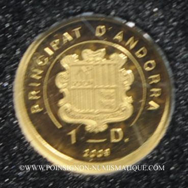 Münzen Andorre. Principauté. 1 diner 2009 Jean Kepler. (PTL 999‰. 0,5 g)