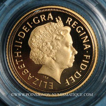 Münzen Grande Bretagne. Elisabeth II (1952- ). 1/2 souverain 2011. (PTL 917‰. 3,99 g)