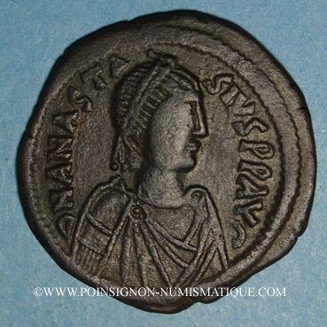 Münzen Empire byzantin. Anastase (491-518). Follis. Constantinople, 1ère officine, 498-518