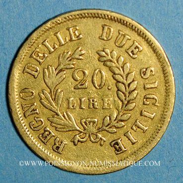 Münzen Italie. Roy. de Naples & Deux Siciles. Joachim Murat (1808-1815). 20 lire 1813 (PTL 900‰. 6,45 g)