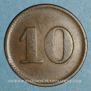 Münzen Mulhouse (68). Joseph Klintz, restaurant. 10 pfennig