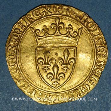 Münzen Charles VI (1380-1422). Ecu d'or à la couronne. 4e émission. Point 18e, Paris