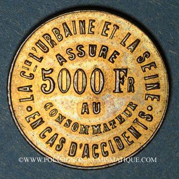 Münzen Assurances Urbaine et Seine - Accidents. Bronze. 22,47 mm