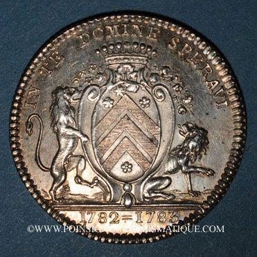 Münzen Bretagne. Mairie de Nantes. J. J. Berrouette. Jeton argent 1782-1783