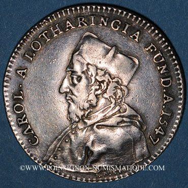 Münzen Champagne. Université de Reims. Jeton argent 1756