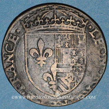 Münzen Eléonore d'Autriche (épouse de François I 1530-58) et son trésorier Nicolas van Laen. Jeton cuivre