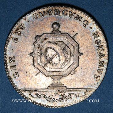 Münzen Notaires. Lyon. Jeton argent 1715