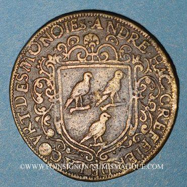 Münzen Paris. Chambre des Monnaies. André Hac, Greffier de la Cour des Monnaies. Jeton