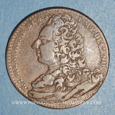 Münzen Paris. Faculté de Médecine. Reneaume M. (1734-35-36). Jeton cuivre