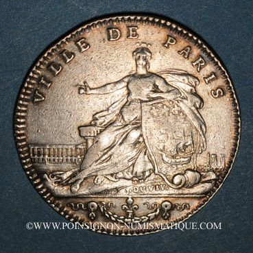 Münzen Paris. J. B. Elie Camus de Pontcarre, seigneur de Viarme. Jeton argent 1763