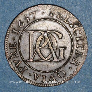 Münzen Paris. Noblesse de l'Ile de France. Surmain. Jeton cuivre 1657