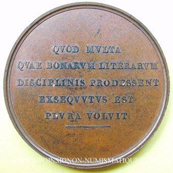 Münzen Antoine-François-Henri Lefèbre de Vatimesnil (1789-1860). Médaille en bronze. 50 mm