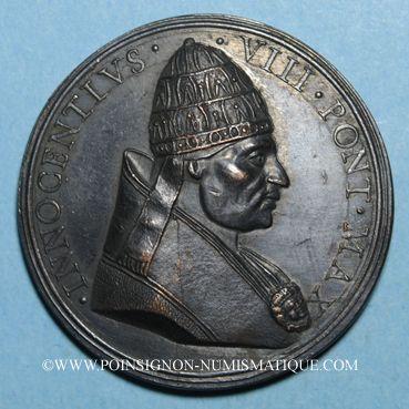 Münzen Innocent VIII (1484-1492). Capture du turc Dschem. Médaille de restitution, bronze