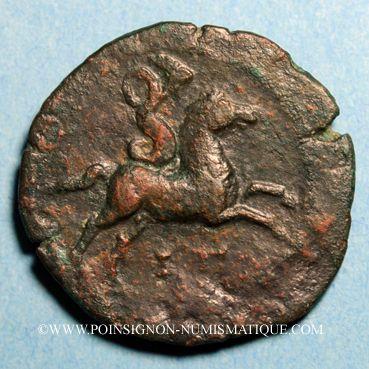 Münzen Faustine jeune, épouse de Marc Aurèle († 175). Diobole. Alexandrie, an 3
