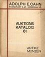 Antiquarischen buchern Cahn A., Francfort, vente aux enchères n° 61, 03-04.12.1928. Sammlung Prof. Dr. Karl Hahn