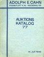 Antiquarischen buchern Cahn A., Francfort, vente aux enchères n° 77, du 14.07.1932