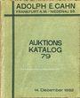 Antiquarischen buchern Cahn A., Francfort, vente aux enchères n° 79, du 14.12.1932.