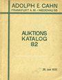 Antiquarischen buchern Cahn A., Francfort. Vente aux enchères n° 82, du 28.06.1933