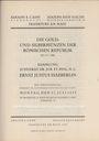 Antiquarischen buchern Cahn / Hess, vente aux enchères 17.07.1933. Sammlung Justizrat Dr. H. C. Ernest Justus Haeberlin