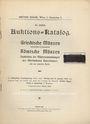 Antiquarischen buchern Egger B., Vienne, vente aux enchères n° 39, 15.01.1912.