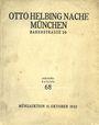 Antiquarischen buchern Helbing O., Munich. Auktions Katalog n° 68 du 11.10.1932