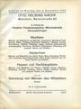Antiquarischen buchern Helbing O., Munich. Auktions Katalog n° 69 du 05.12.1932