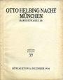 Antiquarischen buchern Helbing O., Munich. Auktions Katalog n° 77 du 12.12.1934