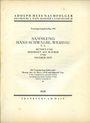 Antiquarischen buchern Hess A., Francfort. Vente aux enchères n° 193, 18.03.1929