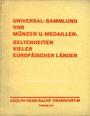 Antiquarischen buchern Hess A., Francfort. Vente aux enchères n° 203,  16.02.1931