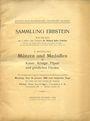 Antiquarischen buchern Hess A., Sammlung Erbstein, II. Theil, 1909