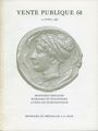 Antiquarischen buchern Monnaies et Médailles, Bâle, vente aux enchères n° 68, des 15.04.1986