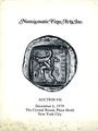 Antiquarischen buchern Numismatic Fine Arts. Vente n° VII, du 06.12.1979