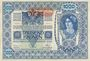 Banknoten Autriche. Banque Austro-Hongroise 1000 couronnes (1919) surchargé / billet du 2.1.1902, 2e émission