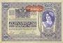 Banknoten Autriche. Banque Austro-Hongroise. Billet. 10 000 couronnes (1919) surchargé sur billet du 2.11.1918