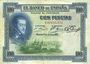 Banknoten Espagne. Banque d'Espagne. Billet. 100 pesetas 1.7.1925