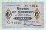 Banknoten Guernesey. Occupation allemande. Billet. 6 pence 1.1.1942