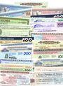 Banknoten Italie. Lot de 25 mini-assignats (assegno)