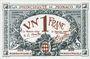 Banknoten Monaco. Billet. 1 franc 20.3.1920, Essai