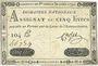 Banknoten Assignat. 5 livres. 30 avril 1792. Signature : Corsel