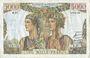 Banknoten Banque de France. Billet. 5000 francs, Terre et Mer, 3.11.1949