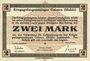Banknoten Allemagne. Golzern. Kriegsgefangenenlager. Billet. 2 mark 1.2.1916