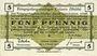 Banknoten Allemagne. Golzern. Kriegsgefangenenlager. Billet. 5 pf 1.2.1916