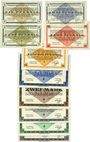 Banknoten Allemagne. Gross-Poritsch. Kriegsgefangenenlager. Billets. 1, 2, 5, 10, 50 pf, 1, 2, 5, 10, 20 mark