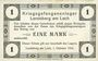Banknoten Allemagne. Landsberg. Kriegsgefangenenlager. Billet. 1 mark 1.10.1915